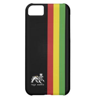 Svart Rasta randIphone 5 fodral iPhone 5C Fodral