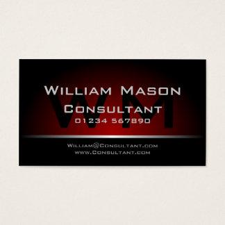 Svart röd Monogramprofessionell - visitkort