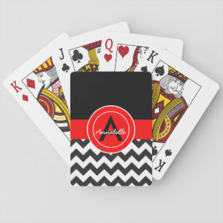 Svart röd sparre spelkort