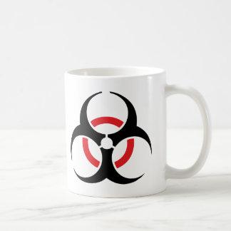 svart röd symbol för hardstyle kaffemugg