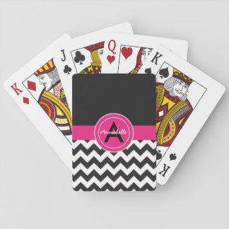 Svart rosa sparre spelkort