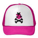 Svart rosa stjärnaCrossbones Baseball Hat