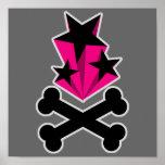 Svart rosa stjärnaCrossbones Posters