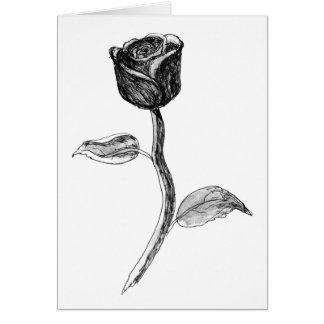 Svart Rose. Hälsningskort