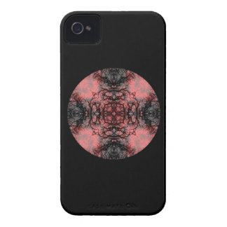 Svart, rosor och grå gotisk modell iPhone 4 Case-Mate fodraler