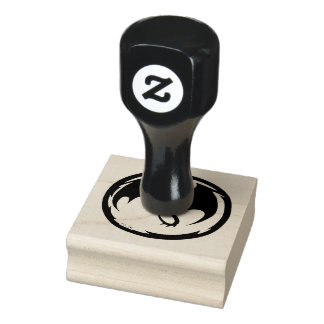 Svart rubber frimärke för drake 2x2 gummistämpel