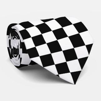 Svart rutigt slips