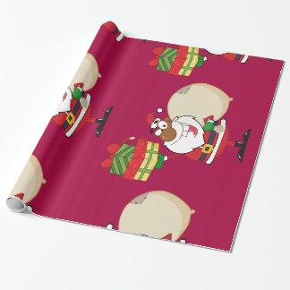 Svart Santa med gåvor Presentpapper