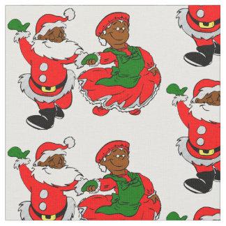 svart santa mrs claus tyg