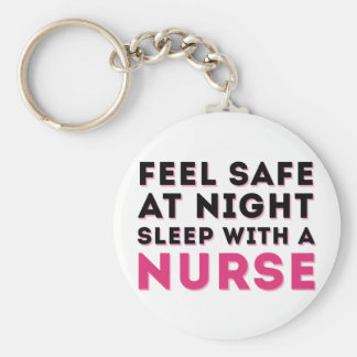 Svart Sassy sjuksköterskahumor för rosor Rund Nyckelring