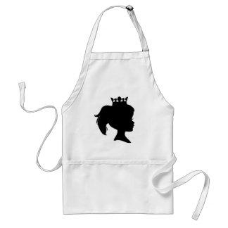 Svart SilhouettePrincess T-tröja och gåvor Förkläden