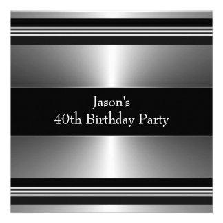 Svart silver bemannar den 40th födelsedagsfesten