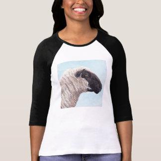 Svart skjorta för ansiktefår II T-shirt