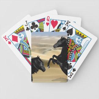 Svart skönhethästar för vild spelkort
