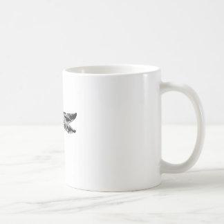 Svart slända kaffemugg