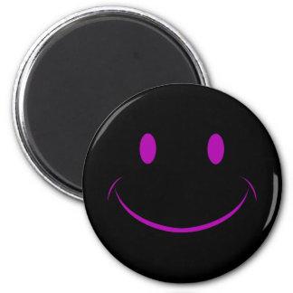 Svart smiley facemagnet magnet