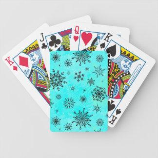 Svart snöflingor spelkort