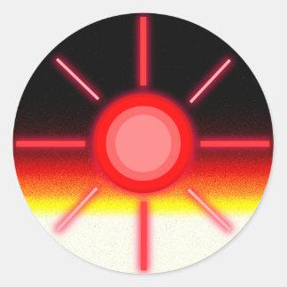 svart sol runt klistermärke