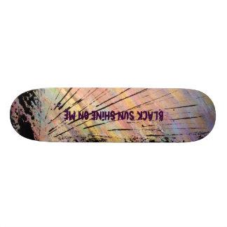 Svart solSkateboarddäck Skateboard Bräda 20,5 Cm