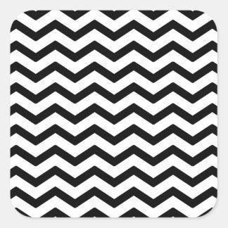 Svart sparredesignperfekt för Monograms Fyrkantigt Klistermärke