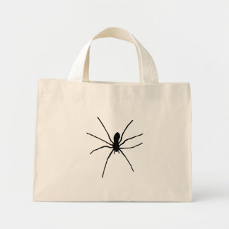 Svart spindel mini tygkasse