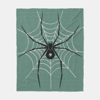 Svart spindelkastfilt fleecefilt