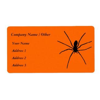 Svart spindelmall fraktsedel