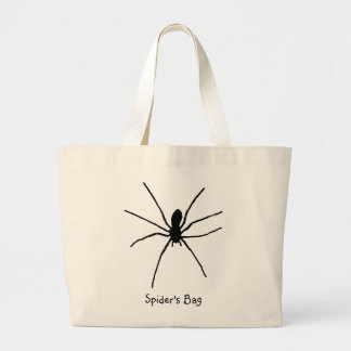 Svart spindelmall jumbo tygkasse