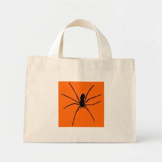 Svart spindelmall mini tygkasse