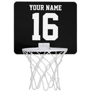 Svart sportigt lag Jersey Mini-Basketkorg
