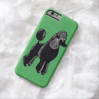 Svart standart fodral för pudelgröntiPhone 6 Barely There iPhone 6 Skal