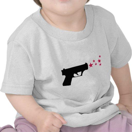 svart stjärnor för vapenstjärnapistol t-shirts