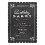 Svart svart tavla för födelsedagsfest inbjudan |