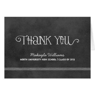 Svart svart tavla för studententackkort | hälsnings kort