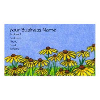 Svart synade Susans Flowers~Business kort Visitkort