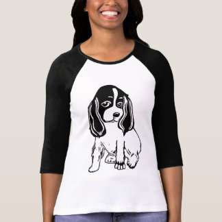 Svart T-tröja för Raglan för damer för Tee Shirt