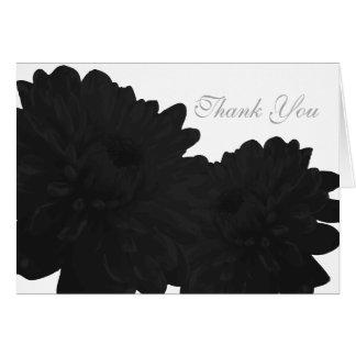 Svart) tackkort för blomma ( OBS kort
