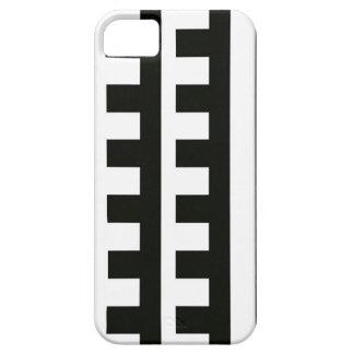 Svart tandhårkamrandar iPhone 5 Case-Mate skydd