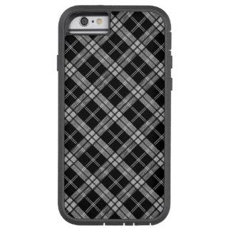 Svart Tartan Tough Xtreme iPhone 6 Fodral