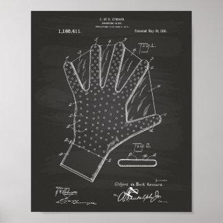Svart tavla för konst för simninghandske 1916 poster