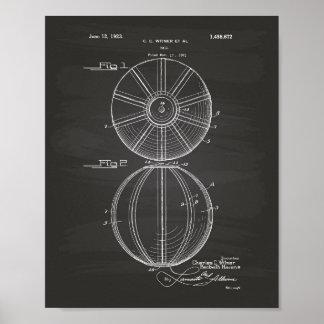 Svart tavla för konst för vattenPoloboll 1923 Poster