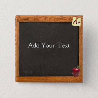 Svart tavla för lärare standard kanpp fyrkantig 5.1 cm
