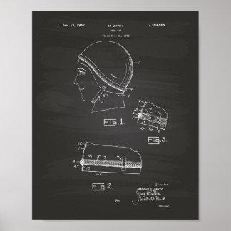 Svart tavla för simmaGap 1942 patenterad konst Poster