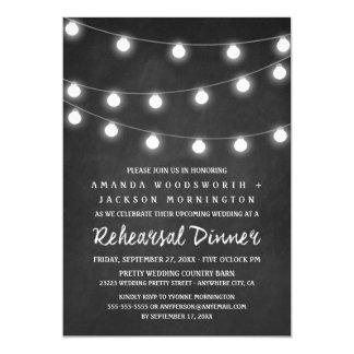 Svart tavla- och ljusrepetition middaginbjudningar 12,7 x 17,8 cm inbjudningskort