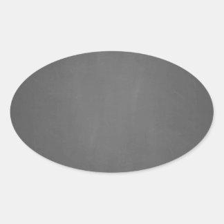 Svart tavlabakgrundsmall ovalt klistermärke