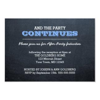 Svart tavlablått efter partyinbjudan 8,9 x 12,7 cm inbjudningskort