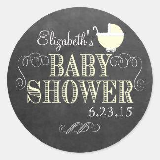Svart tavlaLook för vintage - baby shower