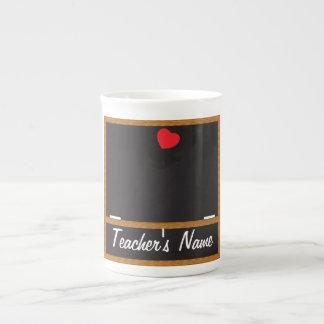 Svart tavlamugg för lärare - DIY-text Tekopp