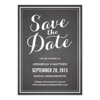 Svart tavlaspara datum meddelande för Calligraphy 12,7 X 17,8 Cm Inbjudningskort