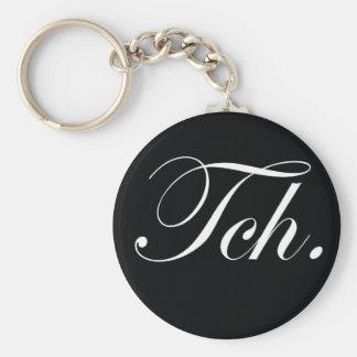"Svart ""Tch."", keychain Nyckelring"